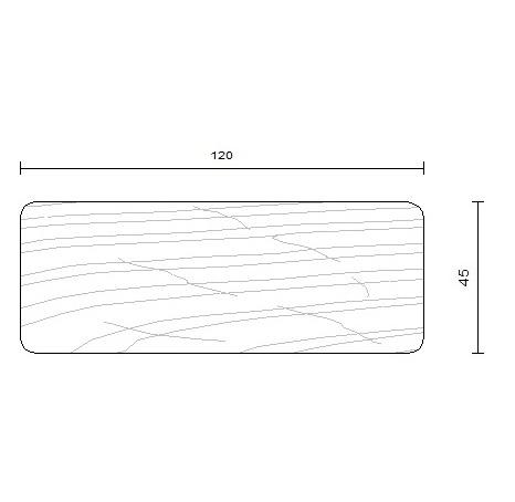 bois d'ossature douglas 45 x 120 mm