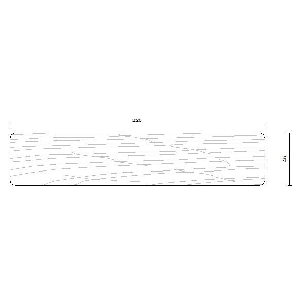 bois d'ossature douglas 45 x 220 mm