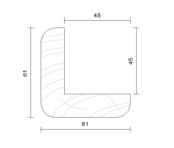 Corni re d 39 angle douglas traitement autoclave avh bois for Traitement bois douglas exterieur