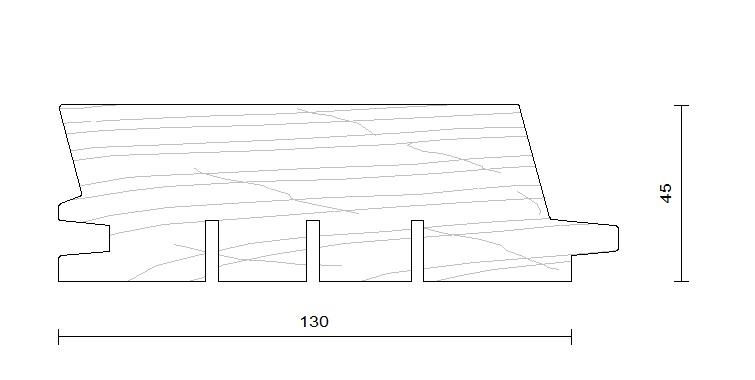 bardage douglas faux claire voie horizontal modèle 130