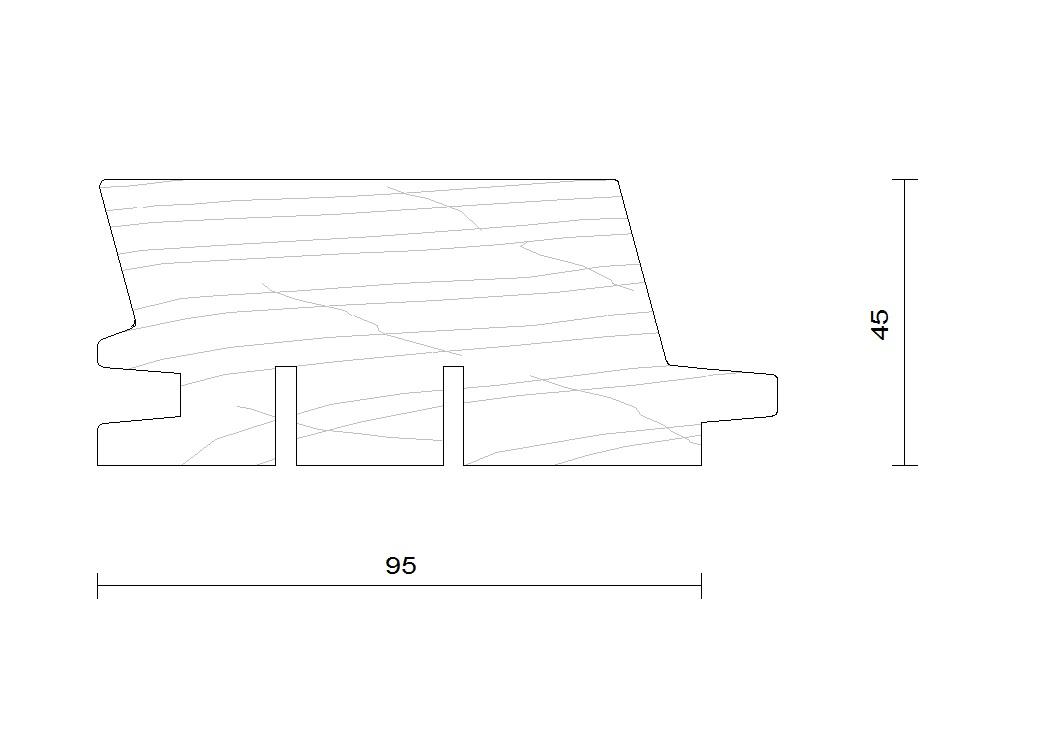 bardage douglas faux claire voie horizontal mod le 95 choix 1. Black Bedroom Furniture Sets. Home Design Ideas