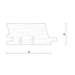 bardage douglas faux claire voie horizontal modèle 95