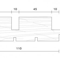 bardage douglas faux claire voir vertical modèle 33