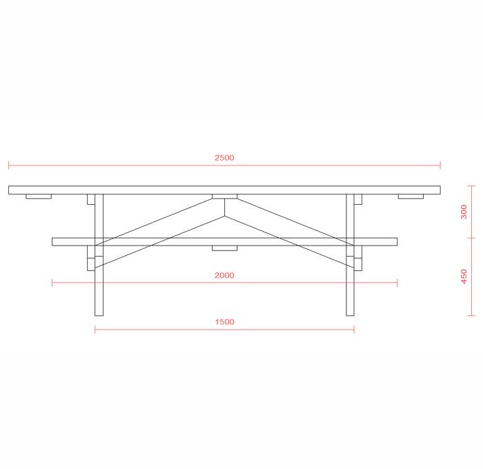 Table foresti re handi naturelle 336 ttc avh bois - Plan pour fabriquer table forestiere ...