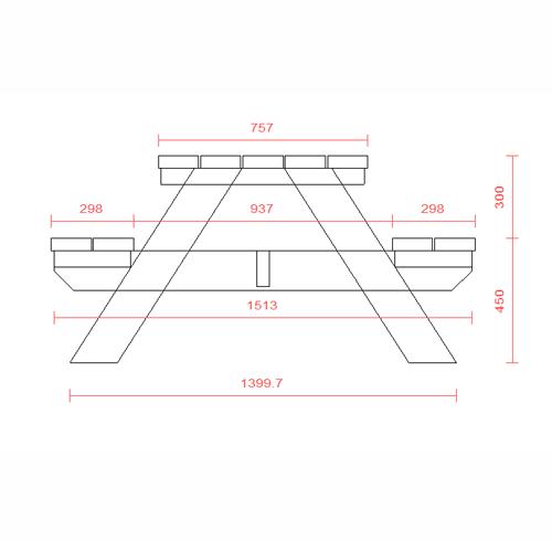 Plan table forestiere table de lit a roulettes - Plan pour fabriquer table forestiere ...