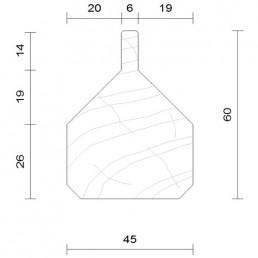 lisse basse saturée douglas 45 x 60 mm