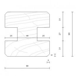 poteau standard douglas 90 x 90 mm