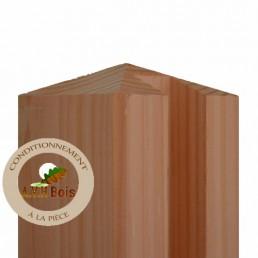 poteau de départ douglas 90 x 90 mm pour palissade