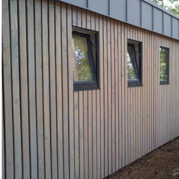 Bardage douglas claire voie vertical for Prix bardage bois interieur