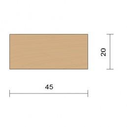 bardage claire voie vertical saturé section 20 x 45 mm