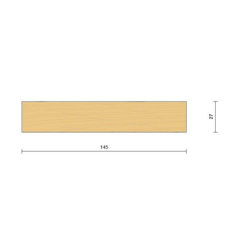 bardage claire voie vertical saturé section 27 x 140 mm