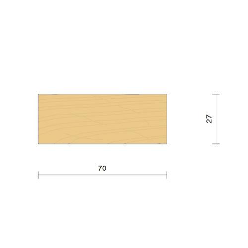 bardage claire voie vertical saturé section 27 x 70 mm