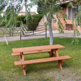 table pique nique enfant en bois douglas