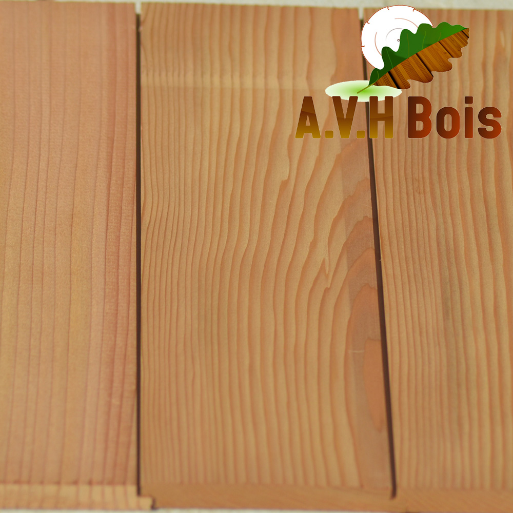 lambris mi-bois red cedar