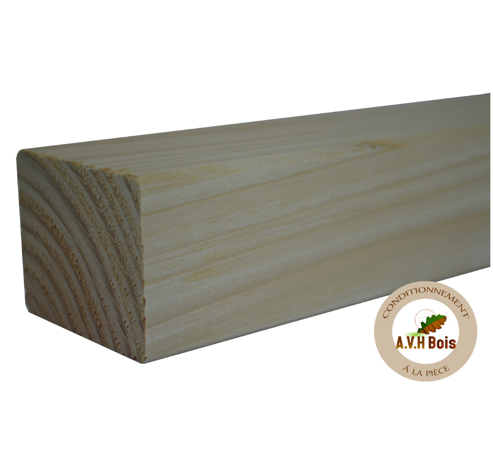 lambourde bois douglas 45 * 60 mm, lambourde douglas