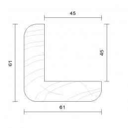 cornière d'angle douglas traitement autoclave