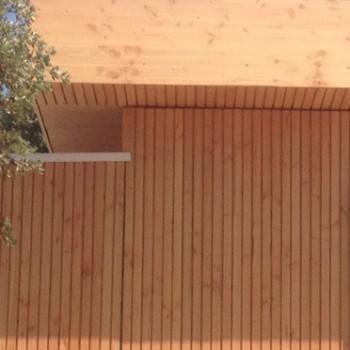 bardage douglas faux claire voie vertical naturel
