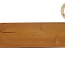 mi-bois douglas feuillure de 10mm de chaque côté (pose jointive) coupe équerre en bout