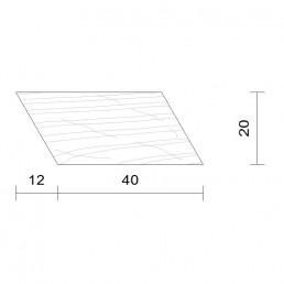 Bardage claire voie horizontal douglas 20 x 40