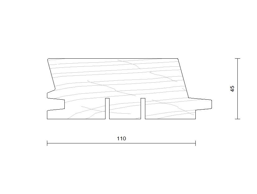 bardage douglas faux claire voie horizontal modèle 110