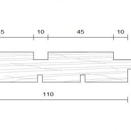 bardage douglas faux claire voir vertical modèle 21