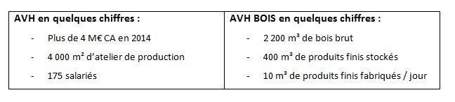 AVH Bois chiffres clés