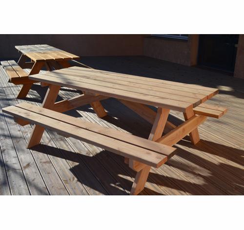 mobilier de jardin table forestière en douglas, lame de terrasse en douglas