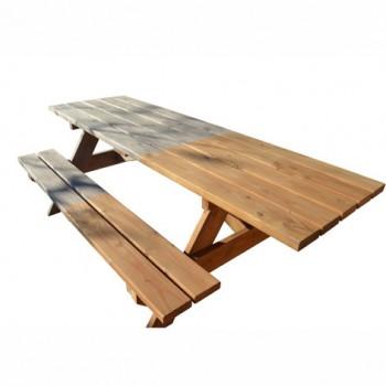 table forestière en douglas saturé