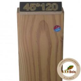 ossature bois douglas naturel 45 x 120 mm