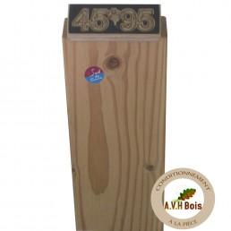 ossature bois douglas naturel 45 x 95 mm