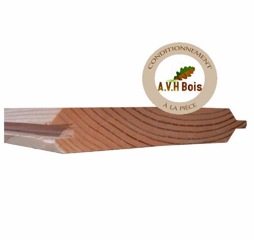 lame de palissade à emboitement en douglas 150 x 25 mm utile