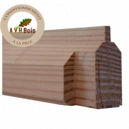 lisse basse douglas 45 x 60 mm pour bas de palissade