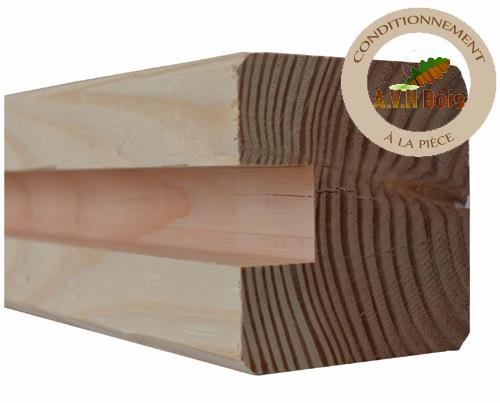 poteau de depart douglas 90 x 90 mm pour palissade