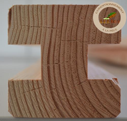 poteau standard douglas 90 x 90 mm pour palissade