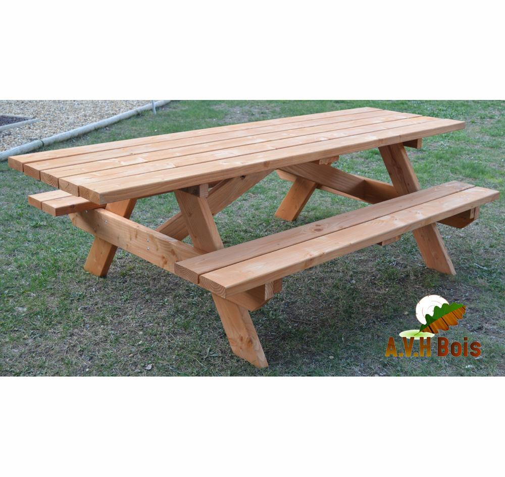 table en bois, table pique nique, table bois douglas saturée