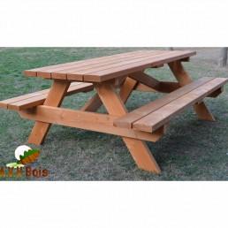 table forestière en bois, table pique nique, table en bois douglas