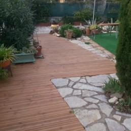 Aménagements extérieurs - terrasse, palissade, mobilier de jardin