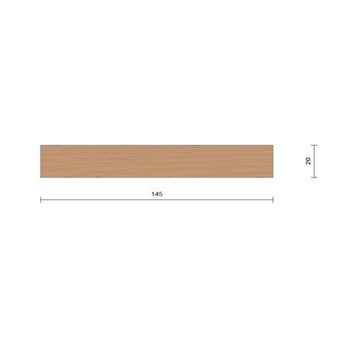 bardage claire voie vertical saturé section 20 x 145 mm